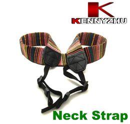 Canvas Camera straps online shopping - Camera Neck Shoulder Strap For DSLR Color Stripe Woven Nylon Canvas Material Sales Promotion