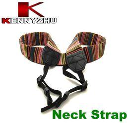 Canvas Camera straps online shopping - Camera Neck Shoulder Strap For DSLR Color Stripe Woven Nylon Canvas Material High Quality