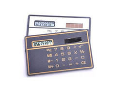 Wholesale Solar Pocket Power - 2016 Fashion Special Hot and Convinient Design High Quality Low Cost Mini Slim Credit Card Solar Power Pocket Calculator #2059