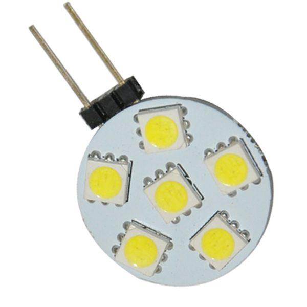 Energy Saving Pure White G4 6 LED 5050-SMD Cabinet Boat Light Bulb Lamp 12V New good price 20pcs/lot free shipping