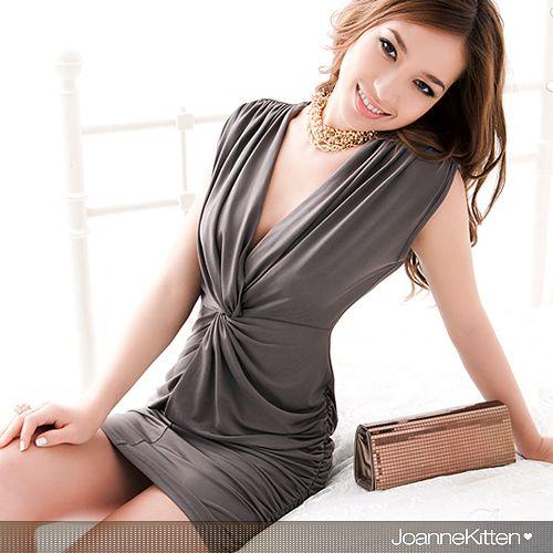 Hot Summer Fashion Clubwear Dress Femmes Cocktail Élégant Sexy Droop V Neck Mini Casual Dress