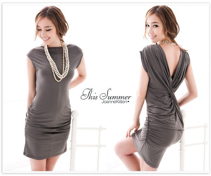 Hot Summer Fashion Women's Clubwear Klänning Cocktail Party Elegant Sexig Droop V Neck Mini Casual Dress