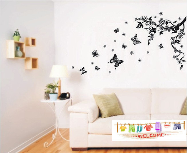 Free Shipping Removable Butterfly Wall Stickers Living Room Decals Hot Sale Home Decor