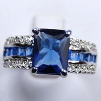 Wholesale Cheap Tanzanite - Wholesale Cheap Genuine Blue Tourmaline Tanzanite Silver Ring Sz:7 8 9