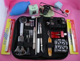 Wholesale Watch Battery Repair Kit - Watch Repair Tool Kit Zip Case Battery Bracelet Set Kit Tools watches repairing tool set