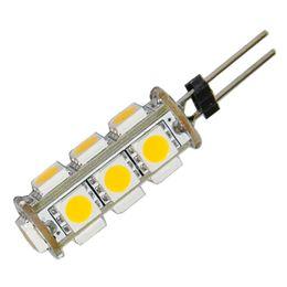 China 2pcs lot for sample G4 13 5050-SMD LED Car Cabinet Warm White Light Bulb Lamp DC 12V suppliers