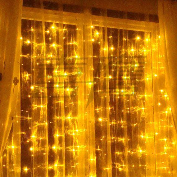 320 luzes do diodo emissor de luz 4m * 2m luzes da cortina, luz do ornamento do Natal, weddind do flash Luz colorida, luzes do Fairy luz conduzida impermeável da tira da luz