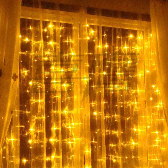600 LED-lampen 6 M * 3M Gordijnverlichting, Kerst Ornament Light, Fairy Wedding Flash LED Gekleurde Lichten Waterdichte LED Strip Verlichting LED Strips