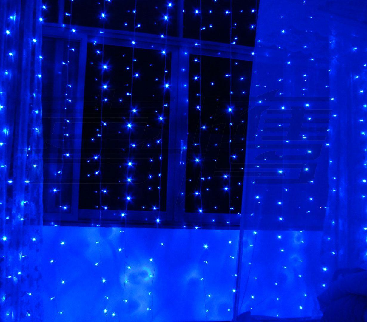 500 luces LED 5 m * 3 m Luces de cortina, luz de adorno de Navidad, luz de colores de Weddind de destello, luces de hadas luz de tira de iluminación LED impermeable