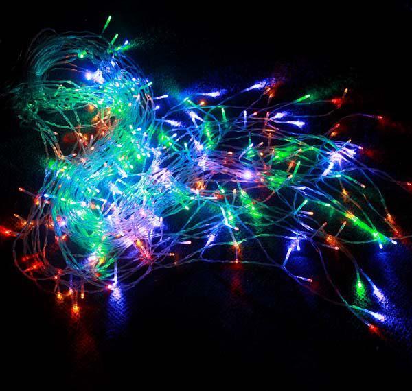 512 LED allume les lumières de rideau de 4m * 4m, lumière d'ornement de Noël, lumière colorée par weddind de flash, éclairage mené par bande de lumière imperméable