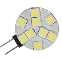 Wholesale G4 Bulb Pure White 12v - G4 9 5050 SMD LED Marine Cabinet Spot Light Bulb Lamp 12V Pure White 10pcs lot