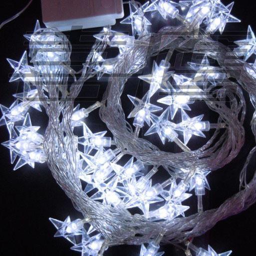 40 LED 5M Star Christmas Ornement Light String, lumières LED colorées Flash, lumière de mariage lampe Fairy
