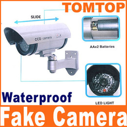 Wholesale Waterproof Fake Cameras - Fake waterproof Surveillance Security Camera Dummy camera with LED light flashes CCTV S89