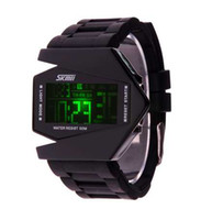 Wholesale Wholesale Watches Skmei - RARE UNISEX THE SKMEi TOKYO BOMBER DIGITAL DISPLAY DATE MENS LED AIRCRAFT WATCH WOMAN'S WATCHES BOX