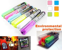 "Wholesale Pen Window Marker - ""CKS WINDOW MARKER"" Fruity Color Oblique Head Highlighter Pen   Marker Pen 6-color 6 pcs"
