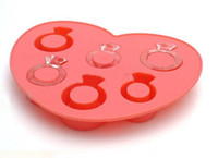 Love Ring Ice Cube Silicone Ice Cube Maker Tray Jelly Moule Chocolat Moule Cool Bar Party Gadgets