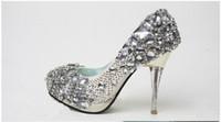 Wholesale Wedding Toe Gems - Fashionable Gem Diamond Wedding Shoes Bridal Shoes Bridesmaid Party Prom Shoes Size Custom Made
