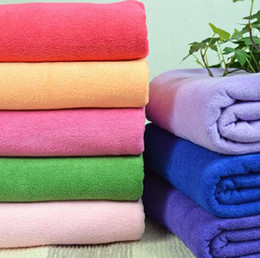 $enCountryForm.capitalKeyWord Canada - Baby Bath Towel quick dry large size Bright Color Multi-function Microfiber Towels with Strong Absorption Children's Towels & Robes