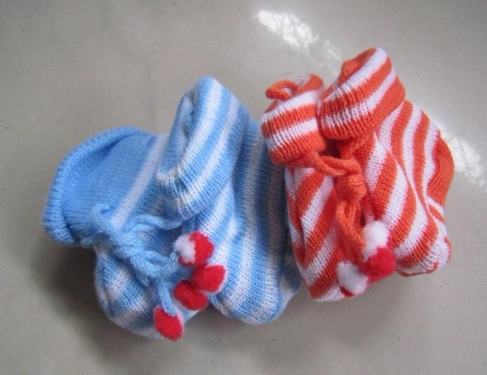 Fornitura all'ingrosso di calzini e scarpe bambini, calzini di lana lavorati a maglia 1 paio
