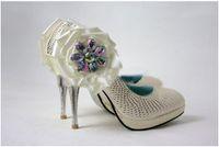 Wholesale Diamond White Bridal Shoes - Unique design Diamond Wedding Shoes Bridal Shoes Bridesmaid Party Prom Shoes Size Custom Made