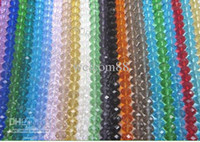 Wholesale Mix Color Crystal Glass Round Faceted Beads For DIY craft Jewelry CS2