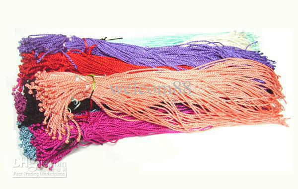 100pcs/lot Silk Nceklace Cords Jewelry Findings For DIY Craft Jewelry Gift 18inch WC8 Free Shipping