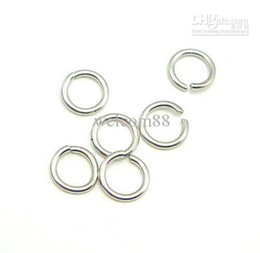 $enCountryForm.capitalKeyWord Australia - 100pcs lot 925 Sterling Silver Open Jump Ring Split Rings Accessory For DIY Craft Jewelry W5008* Free Shipping