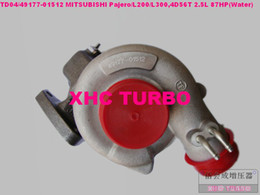 Wholesale 4d56 Mitsubishi Pajero Turbocharger - TD04 49177-01512 Turbocharger for MITSUBISHI L200 Pajero Shougun Delica,4D56 2.5L 87HP 3Holes(Water)