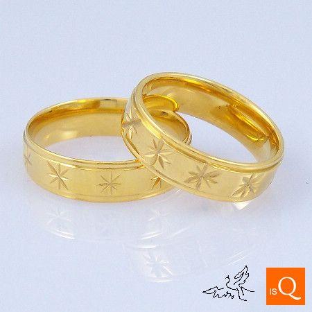 6 мм 18K GP позолоченные кольца выгравированы цветы высокой полировки комфорт подходят кольца из нержавеющей стали