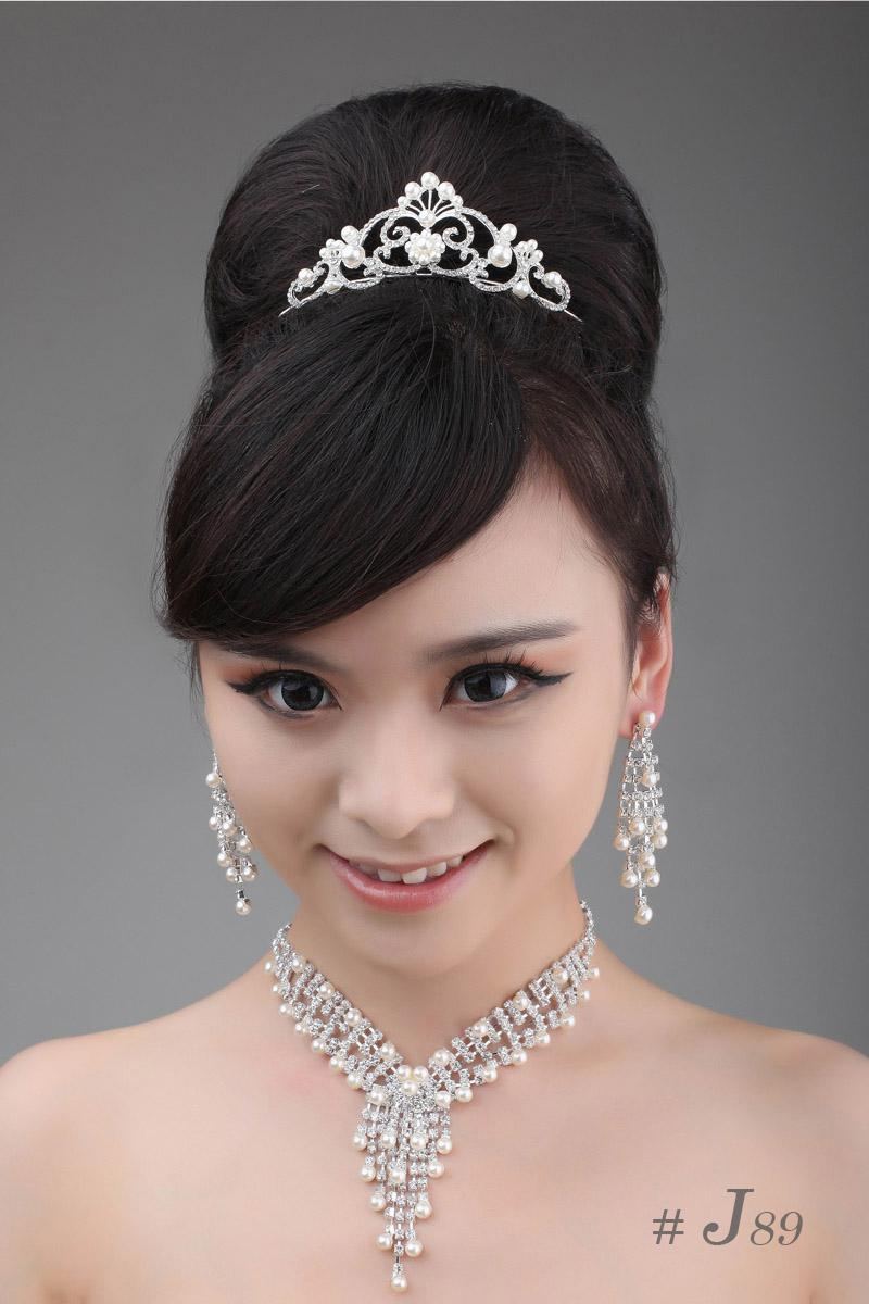 In Stock Bridal Jewelry Sets J89 1 Pearl Necklace Amp Earrings
