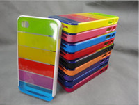 Wholesale Iphone 4s Case Rainbow - HOT Rainbow Hard Case Cover For Iphone 4S 4G With PE bag,10pcs lot