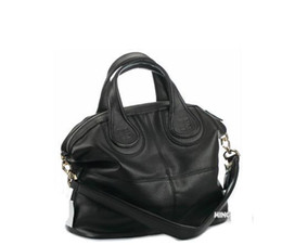 Glitter Ties Canada - Fashion classic Nightingale bag in black leather vintage women's shoulder bags handbags