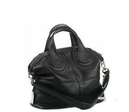 Wholesale Spandex Polyester Fabric - Fashion classic Nightingale bag in pu black vintage women's shoulder bags handbags