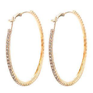 Mode-juwelen vergulde 5 paren 55mm grote kristallen oorbel hoepel cirkel oorbellen