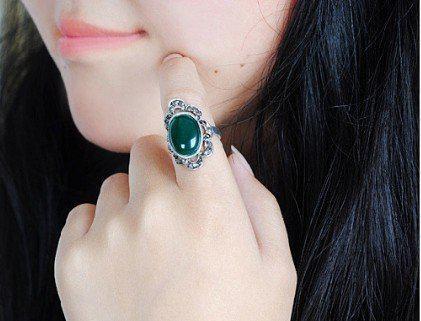 Самые популярные Vintage резной цветок зеркало Gemstone кольца Мода регулируемые Женские Xmas Новые 30pcs