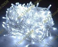 Wholesale Via Christmas Lights - 50pcs DHA17 Via DHL 10M 30FT 100 LED 100LED String Light For Xmas Christmas Fairy Wedding Party