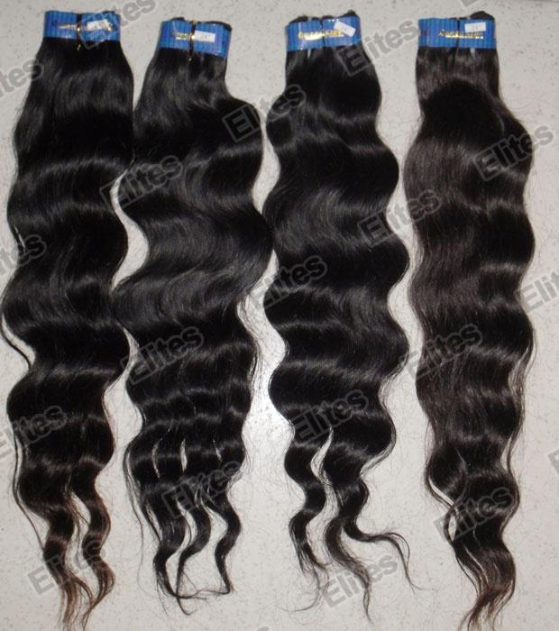 Dhl cheap brazilian hair machine made weave natural color 100gpc see larger image pmusecretfo Images