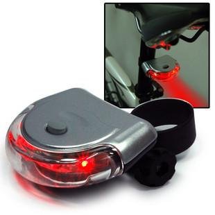 Bike Safety 5 LED UFO Light Bicycle Beam Rear Tail Light Flashing Lamp