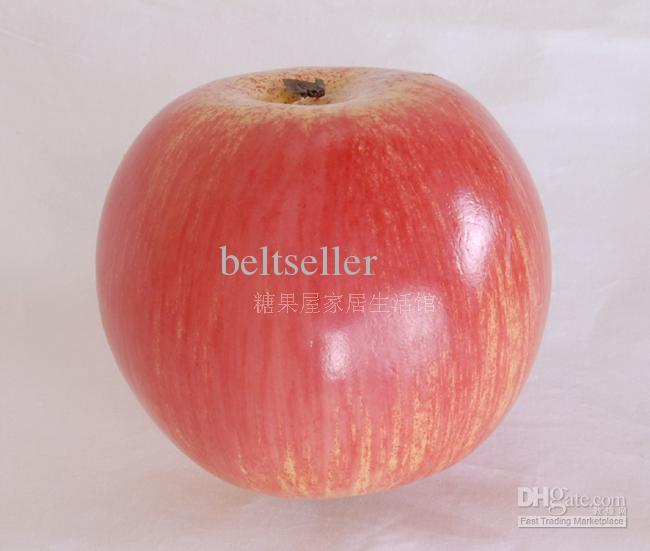 12ピース/ロット大型レッドリンゴ家の装飾的なプラスチック人工果物