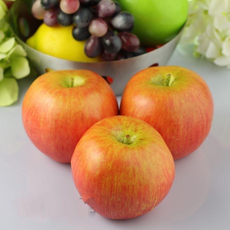 / Grandes pommes rouges à la maison en plastique décoratif de fruits artificiels