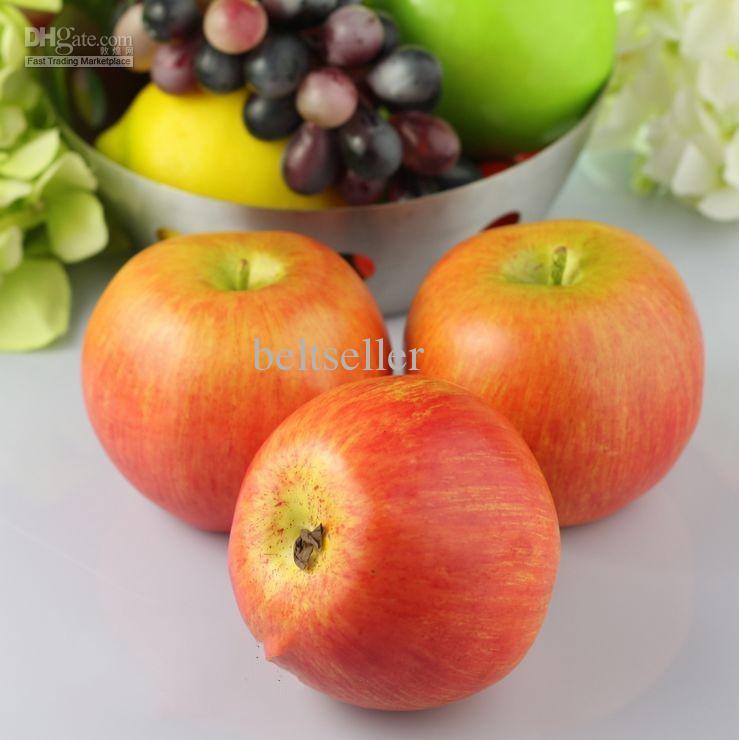 12st / mycket stora röda äpplen hem dekorativa plast konstgjord frukt