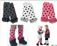 Wholesale Girls Legs Stockings - 80pcs Cheap unisex Baby Toddler Baby round dot legging warmers Winter warmth legging 3colors in stock