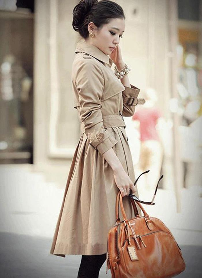 2017 Women's Trench Coat Wind Coat Lady's Long Coat Outerwear ...
