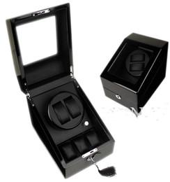 Wholesale Watch Winder Storage Box - NEW TOP QUALITY 2 AUTO WATCH WINDER +3 STORAGE BOX CASE MENS LADIES WATCHES