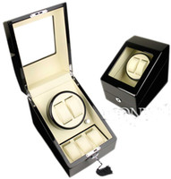 ALG LUXURY EBONY 2 AUTOMATIC WATCH WINDER DISPLAY BOX + 3 STORAGE BOX CASE MENS LADIES WATCHES