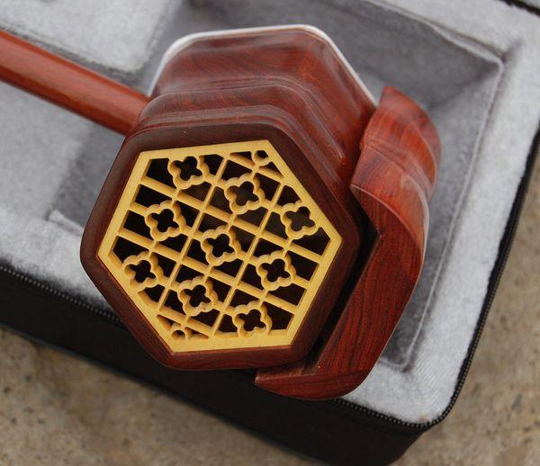 best selling Wholesale China musical instrument, erhu, annatto high-quality goods erhu, red wood poem erhu, direc