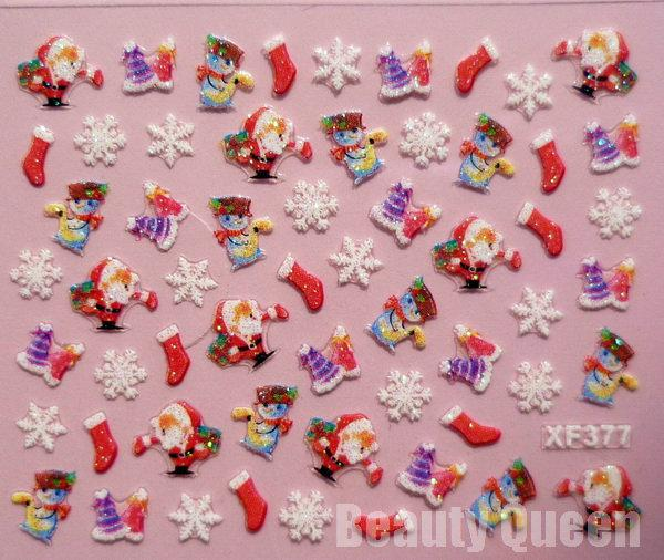 НОВЕЙШИЕ !!! 24 Стиль Рождественского дизайн 3D Nail Art наклейка Совет этикет украшение советы Set * Бесплатная доставка EMS *