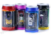 Wholesale Super Mini Rc Cars - 12pcs 4 Channel Mini Coke Can Radio Remote control Super RC racing car 1:63