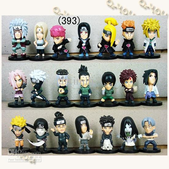 2017 21 Styles Naruto Anime Figures Dolls Toys Cartoon Doll Model ...