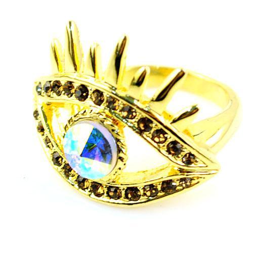 злые глаза ювелирные изделия кольца золотые кольца, злой глаз кольцо, сплав кольца, 3 шт. / лот, rn-600.формат JPG